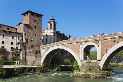 Tiber Island Wall Art - Photograph - Rome, Italy by Ken Welsh