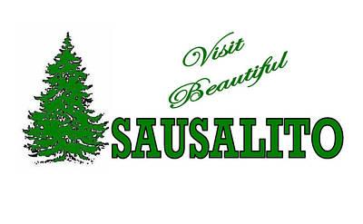Sausalito Digital Art - Sausalito California by Brian's T-shirts
