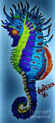 Sea Horse Oil Painting Original by Scott D Van Osdol