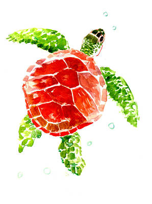 Painting - Sea Turtle by Suren Nersisyan