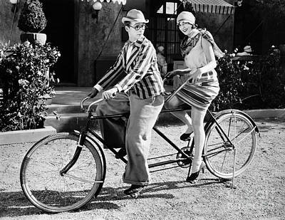 Photograph - Silent Film Still: Couples by Granger