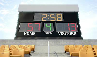 Sports Stadium Scoreboard Art Print