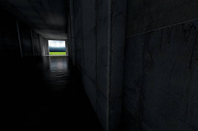 Stadium Digital Art - Sports Stadium Tunnel by Allan Swart
