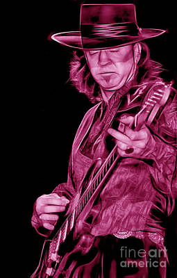 Stevie Ray Vaughan Collection Art Print by Marvin Blaine