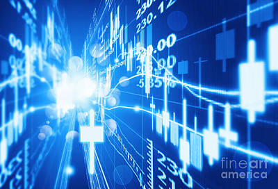 Print featuring the photograph Stock Market Concept by Setsiri Silapasuwanchai