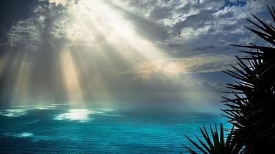 Sunset Digital Art - Sunbeam by Super Lovely