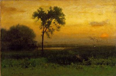 Sunrise Painting - Sunrise by George Inness