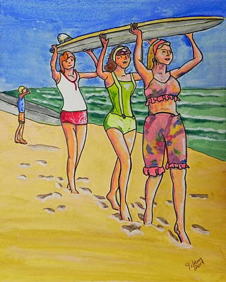 Titusville Painting - Surf Art by W Gilroy