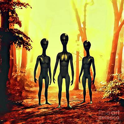 Science Fiction Rights Managed Images - The Aliens Are Here Royalty-Free Image by Raphael Terra