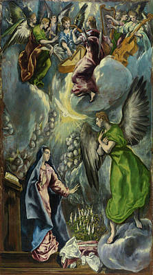 History Painting - The Annunciation by El Greco
