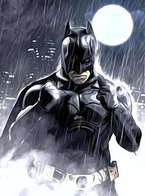 Batman Digital Art - The Batman Series Print by Egor Vysockiy