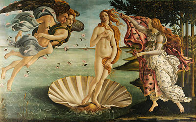 Italian School Painting - The Birth Of Venus by Sandro Botticelli