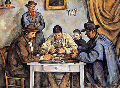Instrument Painting - The Card Players by Paul Cezanne