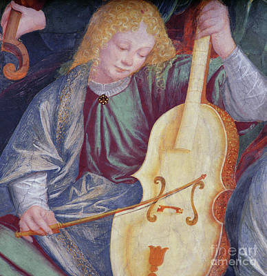 Bass Cello Painting - The Concert Of Angels by Gaudenzio Ferrari