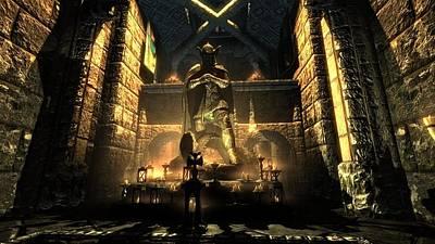 Landmark Digital Art - The Elder Scrolls V Skyrim by Super Lovely