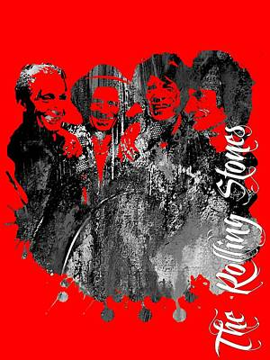 Rock And Roll Mixed Media - The Rolling Stones Collection by Marvin Blaine