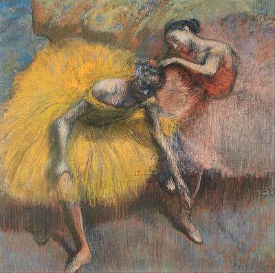 Painting - Two Dancers by Edgar Degas