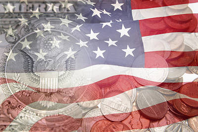 Coins Photograph - Usa Finance by Les Cunliffe