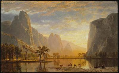 Yosemite Painting - Valley Of The Yosemite by Albert Bierstadt