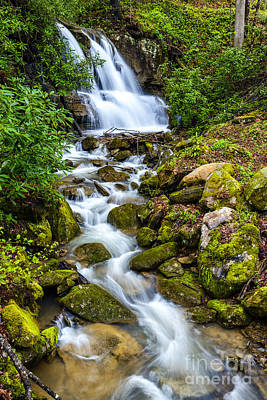 West Fork Photograph - West Virginia Waterfall  by Thomas R Fletcher