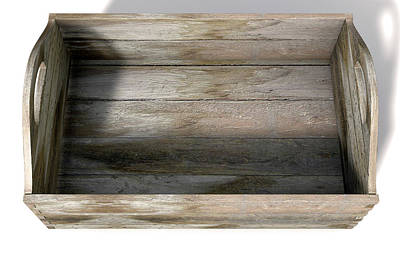 Wooden Carry Crate Art Print by Allan Swart