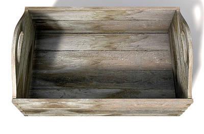 Delivering Digital Art - Wooden Carry Crate by Allan Swart