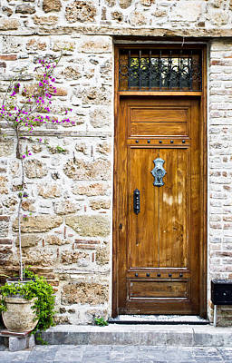 Medieval Entrance Photograph - Wooden Door by Tom Gowanlock