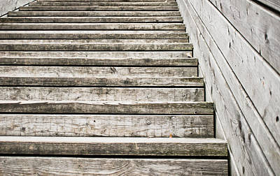 Wooden Steps Print by Tom Gowanlock