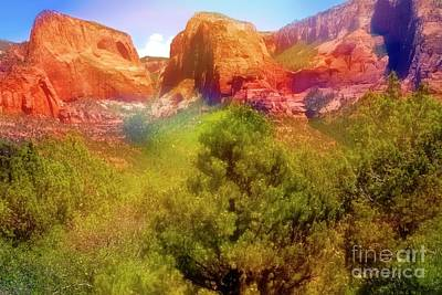 Mixed Media - Zion National Park Utah by Bob Pardue