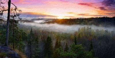 Nature Painting - Landscape Paintings Canvas Prints Nature Art  by Margaret J Rocha