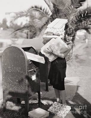 Mail Box Photograph - Silent Film Still: Woman by Granger