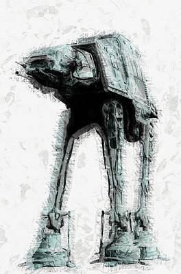 Space Ships Digital Art - Star Wars by Elena Kosvincheva