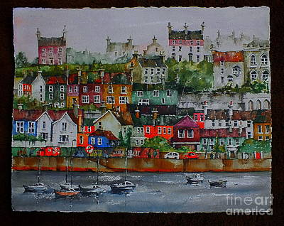 Painting - F  737 The  110 Windows On Kinsale Harbour.. by Val Byrne