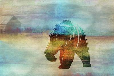 Digital Art - 11006 Bear by Pamela Williams