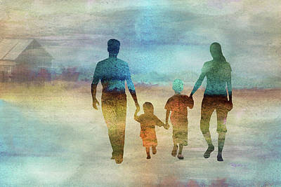 Digital Art - 11007 Family by Pamela Williams