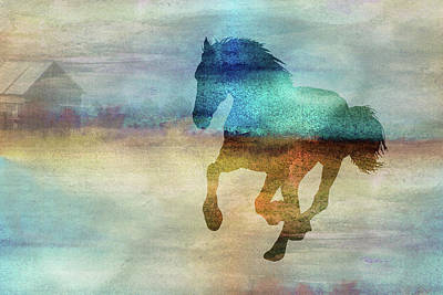 Digital Art - 11008 Horse by Pamela Williams
