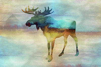 Digital Art - 11010 Moose by Pamela Williams