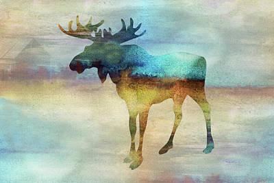 Digital Art - 11010 Moose by Pamela Williams