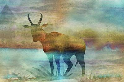 Digital Art - 11011 Antelope by Pamela Williams