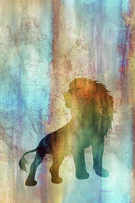 Digital Art - 11014 Lion by Pamela Williams