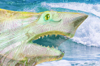 Digital Art - 11027 Sammy Shark by Pamela Williams