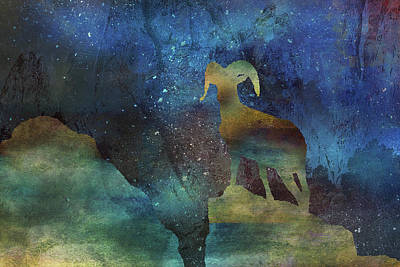 Digital Art - 11036 Night Of The Ram by Pamela Williams