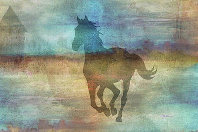 Digital Art - 11039 Horse by Pamela Williams