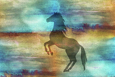 Digital Art - 11040 Horse by Pamela Williams
