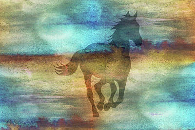 Digital Art - 11041 Horse by Pamela Williams