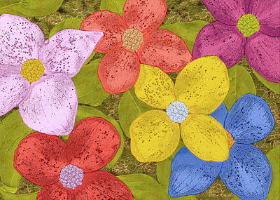 Digital Art - Simple Flowers by Bill Johnson
