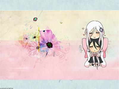 Flower Digital Art - Bleach by Super Lovely