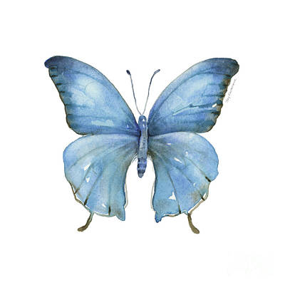 Painting - 111 Blue Elijah Butterfly by Amy Kirkpatrick