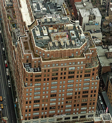 Photograph - 111 Eighth Avenue - Google Building Aerial Photo by David Oppenheimer