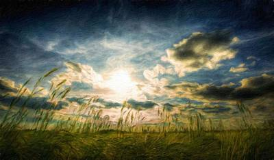 Water Painting - Nature Landscape Art by Margaret J Rocha